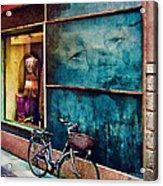 Window In Como Acrylic Print