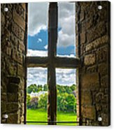 Window In Linlithgow Palace With View To A Beautiful Scottish Landscape Acrylic Print