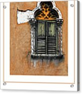 Window In Verona Poster Acrylic Print