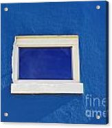 Window On Blue Acrylic Print