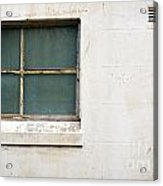 Window On Concrete Acrylic Print