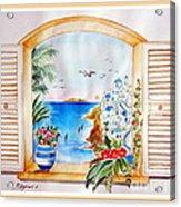 Window On Santorini Acrylic Print