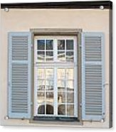 Window Opposite Palace Of The Solitude In Stuttgart - Germany Acrylic Print