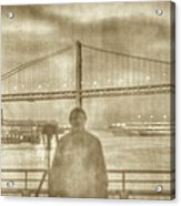 window self-portrait Embarcadero San Francisco Acrylic Print