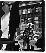 Window Shopping Cowboy Acrylic Print