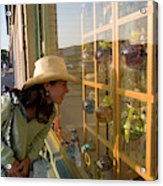 Window Shopping In Downtown Yarmouth Acrylic Print