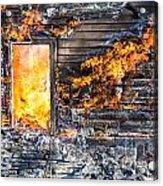 Window Thru The Depth Of Firey Fury Acrylic Print