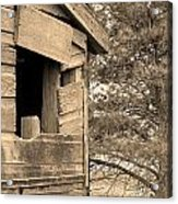 Window To Nowhere - Sepia Acrylic Print