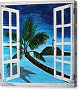 Window To Paradise Beach Acrylic Print