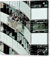 Window Washers Acrylic Print
