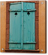 Window With Turqouise Shutters In Colmar France Acrylic Print