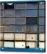 Windows In Blue Building 2 Acrylic Print
