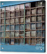 Windows In Blue Building 3 Acrylic Print