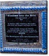 Windows Into The Wild Acrylic Print