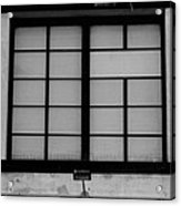 Windows Of Brooklyn In Black And White Acrylic Print