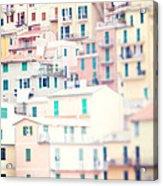 Windows Of Cinque Terre Italy Acrylic Print