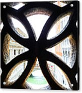 Windows Of Venice View From Palazzo Ducale Acrylic Print