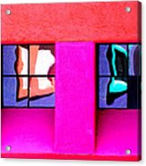Windows Reflected Acrylic Print