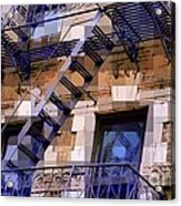 Windowscape 7 - Old Buildings Of New York City Acrylic Print