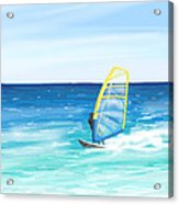 Windsurf Acrylic Print