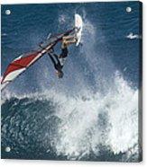 Windsurfer Hanging In Acrylic Print