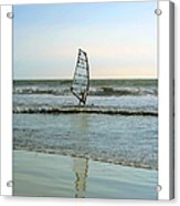 Windsurfing Art Poster - California Collection Acrylic Print