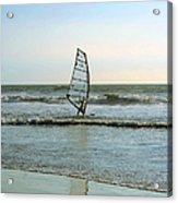 Windsurfing Acrylic Print by Ben and Raisa Gertsberg