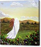 Windswept Angel Acrylic Print