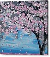 Windswept Blossoms Acrylic Print