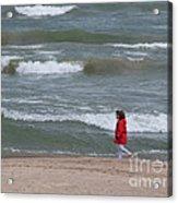 Windy Beach Walk Acrylic Print