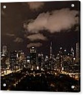 Windy City At Night Acrylic Print