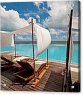 Windy Day At Maldives Acrylic Print
