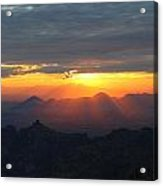 Windy Point Sunset 2 Acrylic Print