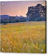 Windy Sunset At The Medieval Castle Acrylic Print