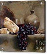 Wine And Bread Acrylic Print