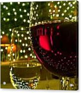 Wine And Lights Acrylic Print by Micah May