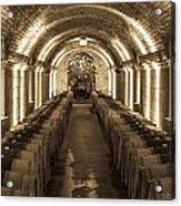 Wine Barrel Barrage Acrylic Print