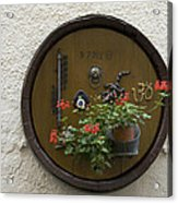 Wine Barrel Decoration Acrylic Print