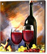 Wine Before And After Acrylic Print