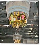 Wine Bottle Chandelier Acrylic Print