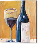 Wine Bottle Still Life Acrylic Print by Todd Bandy