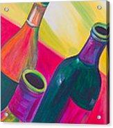 Wine Bottles Acrylic Print by Debi Starr