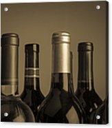 Wine Bottles Acrylic Print by Diane Diederich