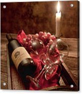 Wine By Candle Light I Acrylic Print