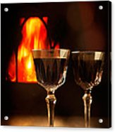 Wine By The Fire Acrylic Print
