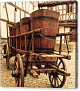 Wine Cart In Alsace France Acrylic Print by Greg Matchick