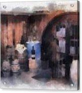 Wine Cellar Photo Art Acrylic Print
