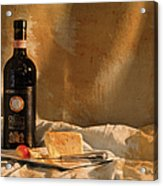 Wine Cherries And Cheese Acrylic Print
