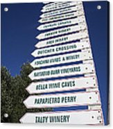 Wine Country Signs Acrylic Print