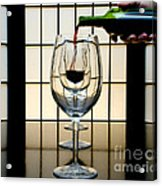 Wine For Three Acrylic Print by John Debar